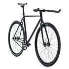 State Bicycle Co Fixed Gear/Fixie Single Speed Bike, Matte Black 5.0, 59cm