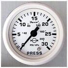 Faria Dress White Gauge 13108 Water Pressure Gauge Kit 30 PSI MD