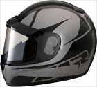 Z1R Grey Stealth Phantom Peak Snowmobile Helmet W/ Dual Anti Fog Lens Shield XS