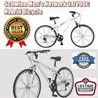 Comfortable Smooth Ride Men 18 Inch Hybrid Bike Shimano 21 Speed Rear Derailleur
