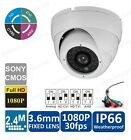 HD-CVI 1080p 2.4MP IR Dome Camera with 24IR LED 3.6mm Lens for Indoor/Outdoor