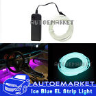 1M ICE Blue Interior Light Cold Car LED EL Wire Neon Lamp Atmosphere Glow Strip