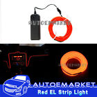 3M Red Interior Light Car LED EL Wire Neon Lamp Atmosphere Glow Strip SUV 12V