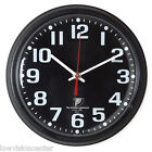 """Chicago Lighthouse 9.25"""" Low Vision Quartz Wall Clock - Black Face with White #"""