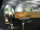 NEW PAIR OF SMALL 6-VOLT CLEAR COLOR VINTAGE STYLE DRIVING LIGHTS !