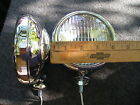 NEW PAIR OF SMALL CLEAR COLOR VINTAGE STYLE DRIVING LIGHTS IN 12-VOLTS !