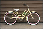 "Vanilla Micargi Tahiti Single Speed Ladies 26"" Adult Beach Cruiser Bike Bicycle"