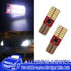 2pcs T10 W5W 194 168 3014 24 SMD  White Light LED Bulb 12V Canbus No Error