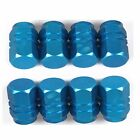 8PCS Tire Tyre Wheel Hexagonal Ventil Valve Cap For Auto Car Truck Blue New hot