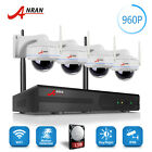 4CH 720P NVR lcd Monitor Wireless IP Network Security Camera System Outdoor 1TB