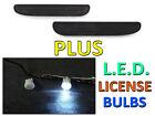 DEPO 94-98 FORD MUSTANG CRYSTAL SMOKE REAR BUMPER REFLECTOR LIGHTS + LED BULBS