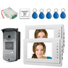 7 Inch Video Door Phone System RFID Card Access Video Doorbell Kit 2-Screen