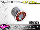 DNA WHS302 SOLDER WIRE 250g ROLL 2mm - IDEAL FOR SPEAKER & WIRING CONNECTIONS