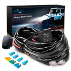 MICTUNING 12 Gauge 600W HD+ LED Light Bar Wiring Harness w/60Amp Relay 12 feet