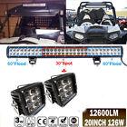 "20"" 126W LED Bar+4"" 45W Light 4 Polaris XP1000 900 800 Ranger RZR CanAm Maverick"