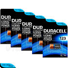 5 x Duracell Ultra Lithium CR123A batteries 3V CR17345 EL123 EXP:2024 Pack of 1