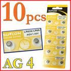 10x AG4 SG4 LR626 LR66 1.55V Alkaline Watches Button coin Cell Battery Suncom