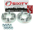 """2pc 1"""" Ford 4x3.9"""" to 4x4.5"""" Wheel Spacers Adapters Aspire Escort Loctite iq"""