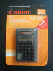 Canon LS-32 Solar Power Calculator 8-Digit Display Screen Brand New NOS Sealed
