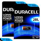 2 x Duracell Lithium 28L batteries 6V PX28L 2CR1/3N 2CR13252 4LR44 Camera