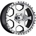 17x8 Machined Black Ultra Rogue 5x5.5 +10 Wheels Trail Grappler Tires