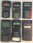 Vintage Casio and Texas Instruments calculator lot for parts or repair 1 Works