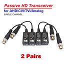 1080P CCTV Twisted BNC Passive TVI CVI AHD HD UTP CAT5 Video Balun Transceiver