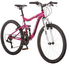 "Girls 24"" Mongoose Mountain Bike Womens Aluminum Bicycle 21 Speed Off Road New"