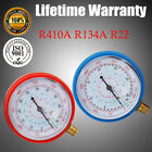 2PCS Air Conditioner R134A R410A R22 Refrigerant Low&High Pressure Gauge PSI KPA