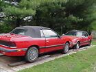 1989 Chrysler LeBaron  TWO 1989 CHRYSLER LEBARON CONVERTIBLES FOR PARTS