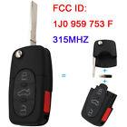 3+1/4 Button Remote Key 315Mhz 1J0 959 753 F for Volkswagen Passat ID48 Chip