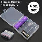 4 Pcs Clear White Plastic Battery Storage Box Holder Case for 4x 18650 Batteries