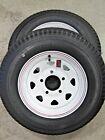 2* Kenda Loadstar 4.80-12 LRC Boat Trailer Tire Wheel White Spoke Stripes 5-4.5