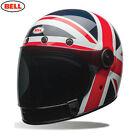 BELL Crusier Bullitt Carbon Spitfire Blue/Red UK Retro/Classic Motorcycle Helmet