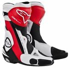 15% OFF Alpinestars SMX PLUS Black/White/Red Motorcycle Sports Boots