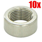 WELD BUNG for OXYGEN SENSOR 10 PACK MILD STEEL O2 EXHAUST Down Pipe Turbo AFR