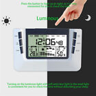 LCD Weather Station Temperature Thermometer Humidity Alarm Luminou Digital Clock