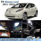 12pcs Bright White Interior LED Lights Package Kit For 2011-2016 Nissan Leaf