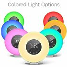 Alarm Clock Digital LED Clock, 6 Color Switch, FM Radio Multiple Nature Sounds