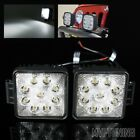 "2 x 27W 9 LED 4.5"" Off Road Square SPOT Lights Roof/A-Pillar/Trunk/Side/Bull Bar"
