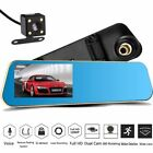 "4.3"" 1080P Car Rearview Mirror DVR Dual Lens Video Dash Cam Camera Night Vision"