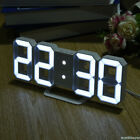 3D Digital Alarm Clock 8 Shiped Clock With Battery USB Cable 24/12 Hours HOT V4