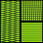 Hydro-Turf In Stock - Sheet Material - Lime Green On Black Groove - Ready2Ship