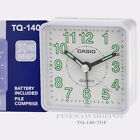 Authentic Casio White Table Top Traveler's Beeper Sound Alarm Clock TQ140-7D