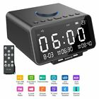 Multi-Function Alarm Clock LED Display + Wireless Bluetooth Player/Calling/Radio