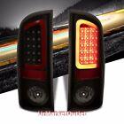 Black/Smoke Lens Red 3D LED Bar Brake+Signal Tail Light Lamp For 02-06 RAM 15-35