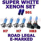 FITS VOLVO C30 2007-ON SET H7 H7 HB3 501 HALOGEN XENON EFFECT LIGHT BULBS