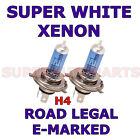 VW T5 TRANSPORTER 2002-09 SET OF 2 H4 XENON SUPER WHITE LIGHT BULBS