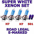 FITS MINI HATCH 2001-2006 SET OF H7 H7 501 SUPER WHITE XENON HEAD LIGHT BULBS