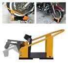 Motorcycle Wheel Chock Scooter Front Wheel Bike Stand Mounts Truck Trailer Floor